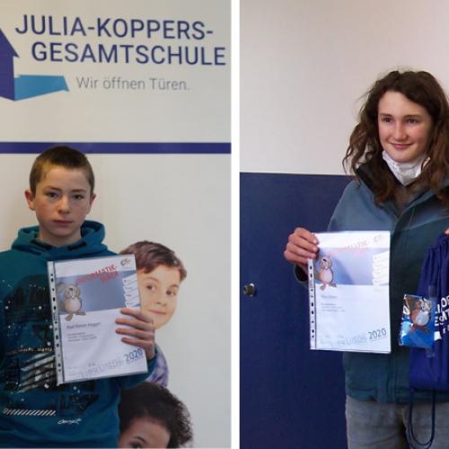"""Erfolgreiche Teilnahme der JKG am """"Informatik-Biber 2020""""!"""