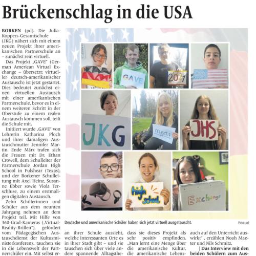JKG goes to America ... (BZ)