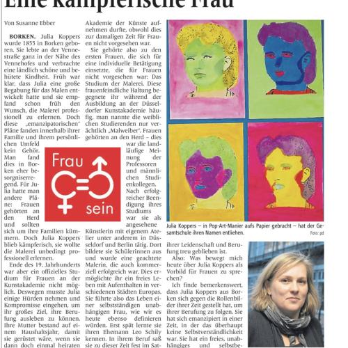 Julia Koppers - Ein gutes Vorbild